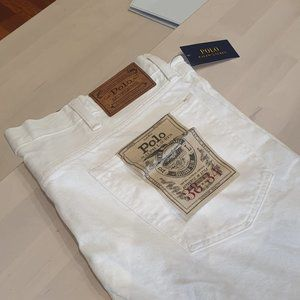 Brand new- size 38 Ralph Lauren White Jeans w/ tag
